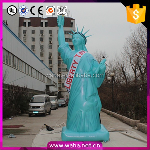 2016 Hot sale giant inflatable statue of liberty, advertising inflatable, inflatable cartoon Statue of Liberty