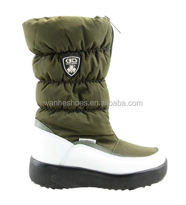 10' height fashion warm snow boots soft shaft feather down filling boots fur boots for women