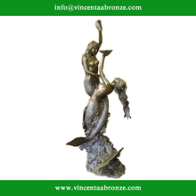 2015 hot sale mordern home decor bronze edvard eriksen little mermaid
