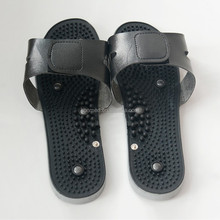Factory supply vibrating electronic massage shoes, tens slipper for physiotherapy