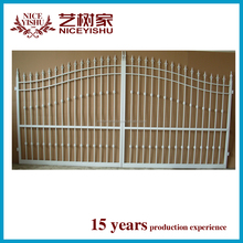 Beautiful gate designs for homes/iron square tube gate /house steel gate design