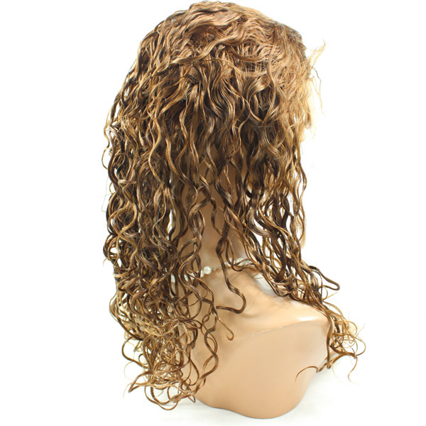 Factory price wholesale cheap curly 20inch human hair lace front wig