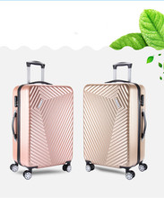 ABS PC hard shell carryon trolley suitcase with expander travel luggage
