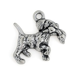 Fashion Tibetan Silver Plated Animals Cute Puppy Dogs and Pet Charms Pendants