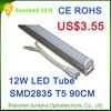3 years warranty CE RoHS smd2835 chips 1200mm 12W t5 Led Tube japanese system free sample