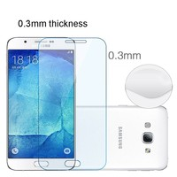 two way glass film tempered glass for Samsung galaxy A8