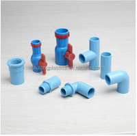 JIS standard Thailand market PVC-U pipe and fittings (BLUE colour )