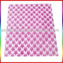 pink star gift wrapping paper