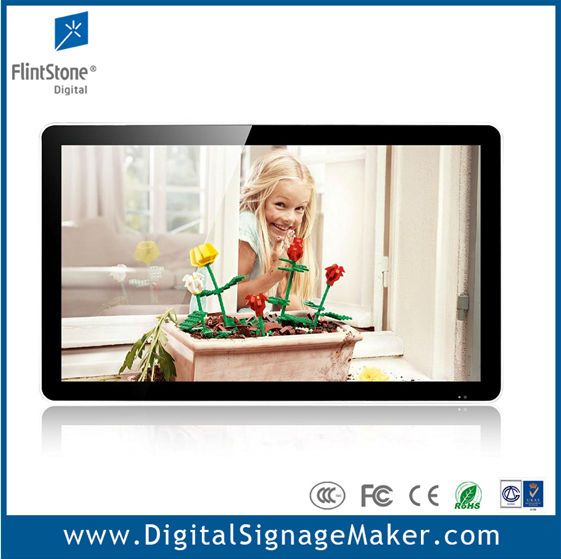 "Ipad style 32"" lcd flintstone internet version play from CF/SD card digital signage"