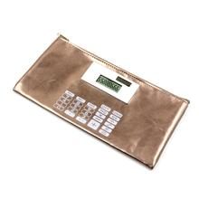 Colorful Leather Wallet, 8 Digit Purse Calculator