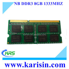 High quality ddr3 ram memory 8gb 1333mhz ram laptop ram sodimm with original chips