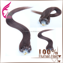 Online selling cheap loop ring hair extension 100% brazilian virgin remy human hair extension #4 micro loop ring hair extension