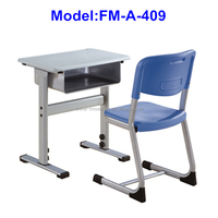FM-A-409 Plastic single set school desk and chair