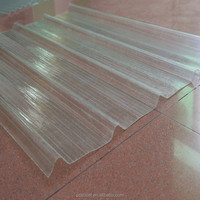 UV Protection lightweight pc corrugated plastic roof sheet