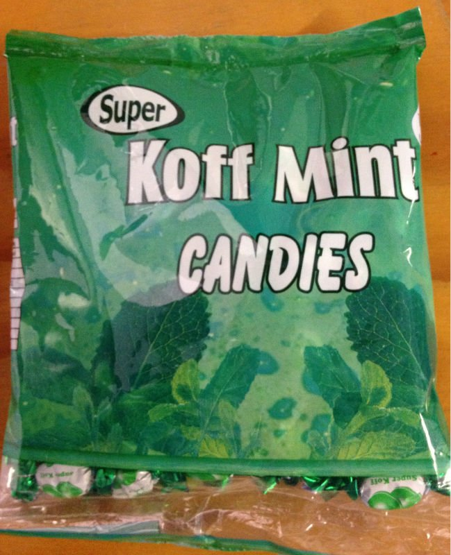 Koff Mint hard Candy
