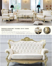 Chinese antique royal classical sofa /High end beige leather sofa hot selling / China imported original quality sofa 8188#