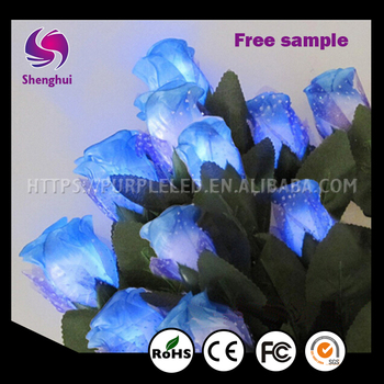 Newest 2016 Valentine Day Gifts Led China Artificial Rose Flowers