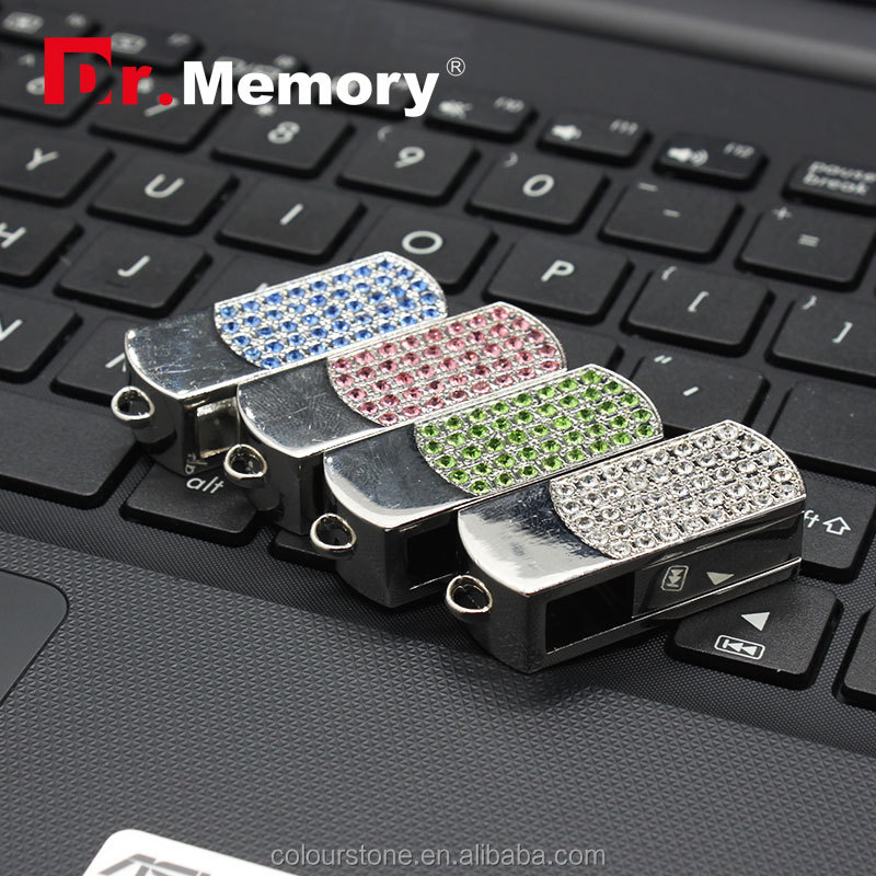 Dr.memory Software Jewelry Crystal Diamond 8G 16G 32G 64G Real Capacity Pendrive Pen Drive Usb Flash Drive