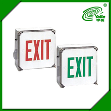 UL listed stainless steel 12V double sided led exit sign