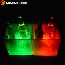 Hot decorative led lighted wine bottle holders ice bucket