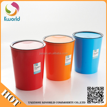 pp kitchen plastic waste bin with lid