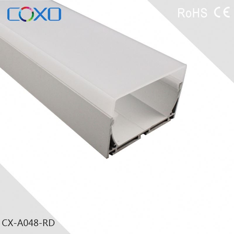 LED Aluminum Profiles - Extrusions - Channels 1Meter length with PMMA diffuser, end caps and two clips