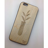 Most popular strong packing tpu wood cell phone case cover for iphone 6 for promotion