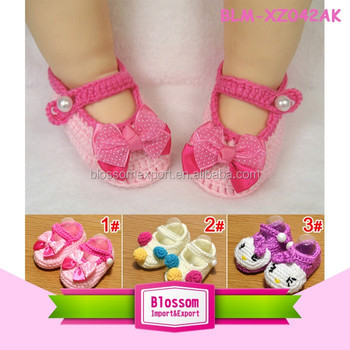 Hot sales pink with bow cute handmade wholesale adult baby shoes