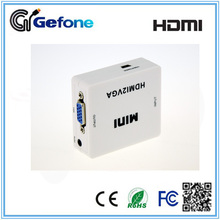 HDMI To VGA + Audio Mini Converter With High Speed