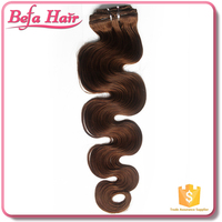 Befa Aliexpress color hair 1# tangle free no sheddidng remy human hair extension body wave silky