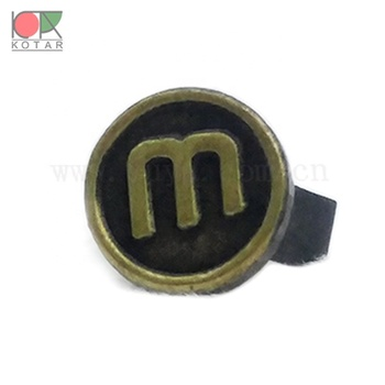 New products 2019 new design custom logo brass  stamping U  pin antique plating