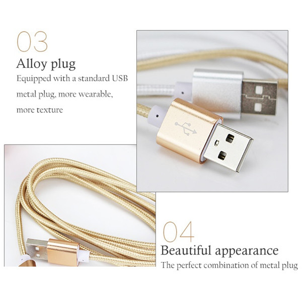 Free Shipping Cell Phone Accessory 2.1 A Fast Charger Micro USB Cable For Samsung Huawei Android Charging Cable