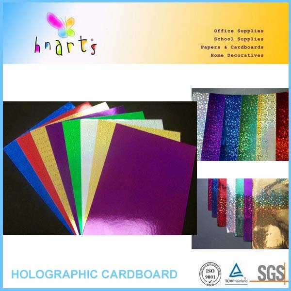 China holographic paper,rainbow holographic paper