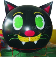Cat shape sphere balloon,inflatable cartoon cat,helium balloons C4019