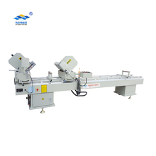 LJZR-420-3500B UPVC window door profiles double head mitre saw cutting miter door machine