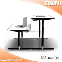 buy one set height adjustable desk , height adjustable desk with wooden top