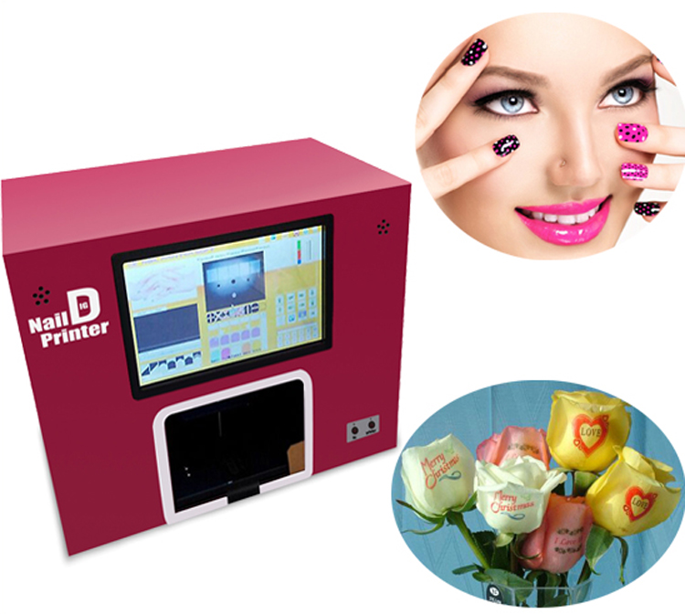 2017 Digital Nail Art Printing Machine Fresh Speaking Flower Printer ...