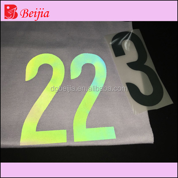 2016 China Sport Number Heat Transfer Sticker For T Shirt