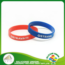 most popular silicone bracelets color filled silicone band