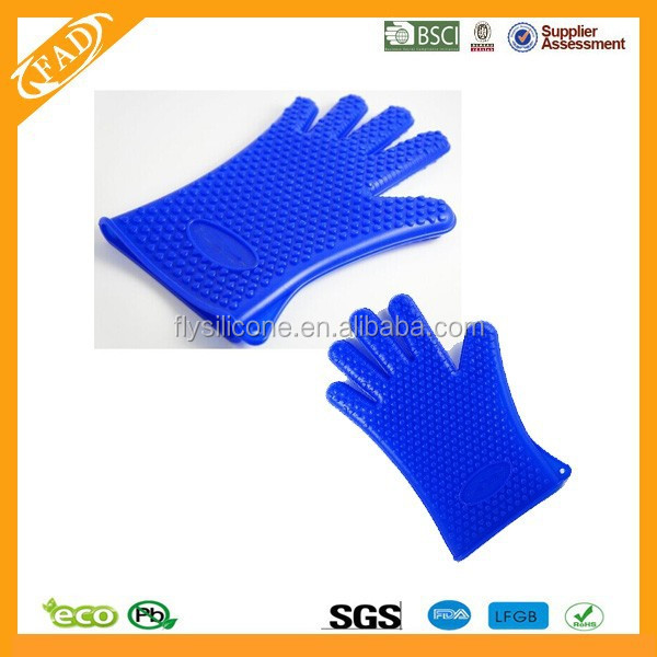 New design promational household colorful silicone kitchen gloves