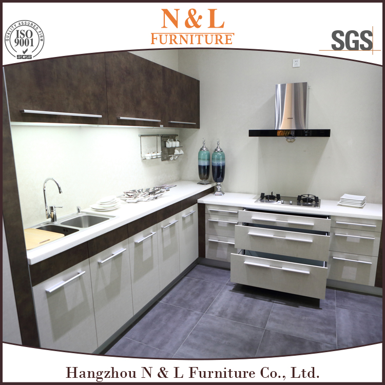 Wooden Powder Coating Water Proofing MFC Cabinet Kitchen Furniture