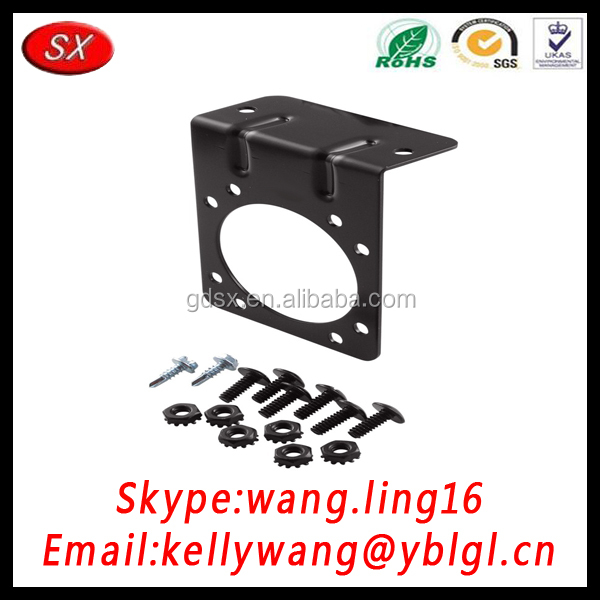 Customized Black Furniture Metal Bracket, Wall Brackets With Screws Nuts