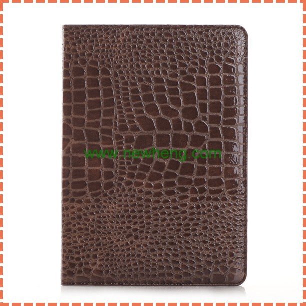Hot Selling Crocodile PU Leather Stand Case for iPad Pro