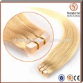 Cheap 100% Real Human Straight Malaysian Skin Weft Hair Extensions