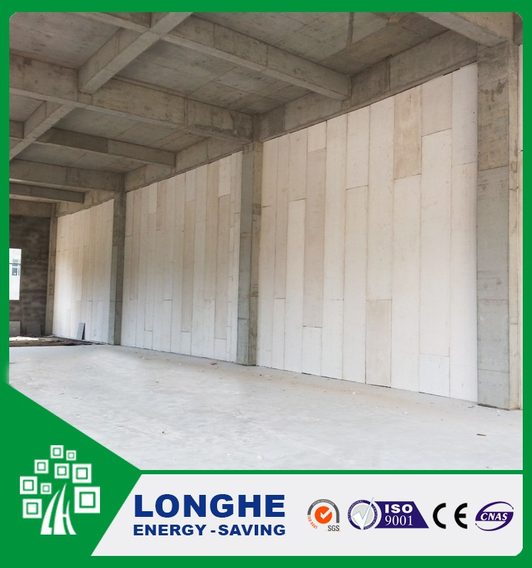 Longhe Compound EPS Sandwich Bead Board Fiber Cement Panel Wall