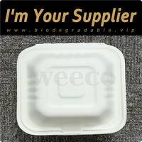 Food serving eco biodegradable molded paper food container China supplier