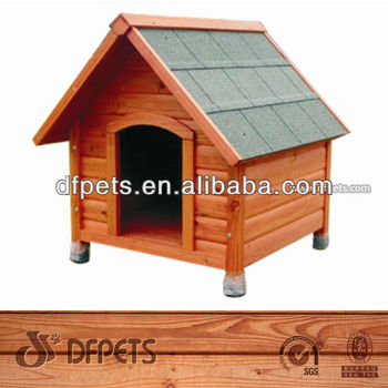Asphalt Roof Wooden Dog Living House DFD-005
