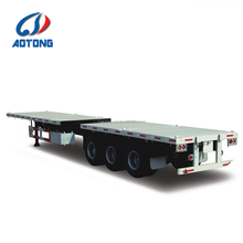 40ft to 45ft 3 axles extendable flatbed container semi trailer/low flat bed trailer for sale