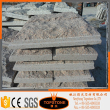 Garden decorative natural rock face granite mushroom wall stone