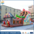 huale featured inflatable bouncy castle with Plato pvc inflatable bouncy slide